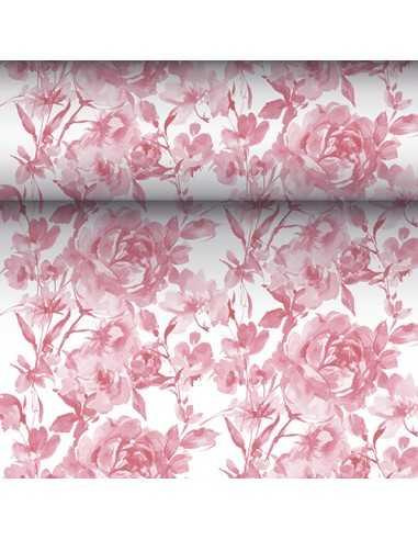 Camino mesa papel decorado rosas burdeos Royal Collection 24 m x 40 cm