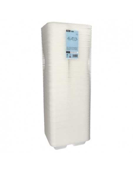 Bandejas para menú termosellables blancas 3 compartimentos XPS 9