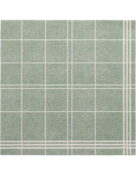 Servilletas de papel cuadros verde Royal Collection Kitchen Craf 40 x 40 cm