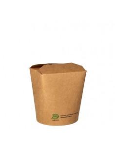 Envases comida para llevar cartón marrón 470 ml Pure 100% Fair