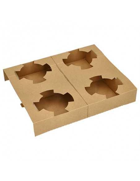 Bandejas cartón transporte tarrinas sopa To Go color marrón
