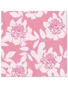Servilletas de papel decoradas rosa Royal Collection 40 x 40cm Adele