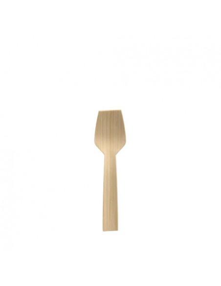 Cucharillas para helado madera bambú natural 9,2 cm Pure