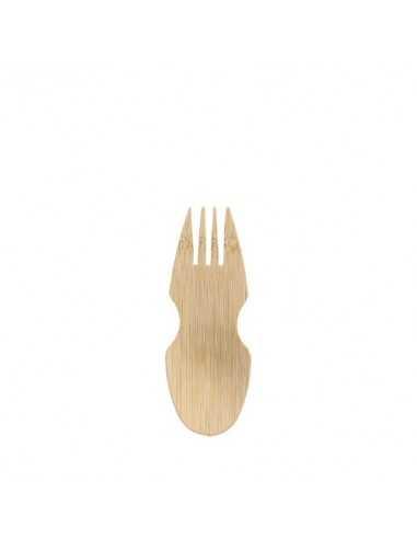 Tenedores de madera bambú natural fingerfood 8,5 cm Pure