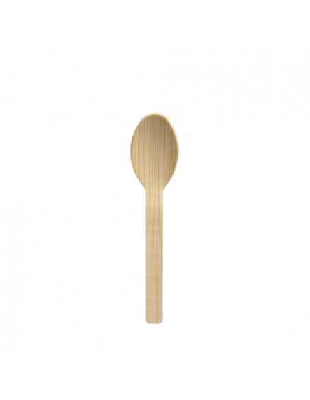 Cucharillas de café madera bambú natural 11 cm Pure
