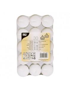 Velas lamparilla color blanco Ø 37 x 16 mm