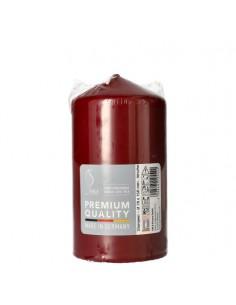 Vela taco color rojo burdeos decorativas Ø 80 mm x 150 mm