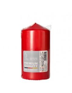 Vela taco color rojo intenso decorativas Ø 80 mm x 150 mm