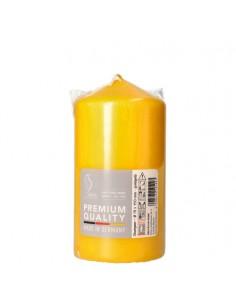Vela taco color amarillo oro decorativa Ø 80 mm x 150 mm