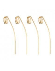 Pinchos brocheta decorativos madera bambú Loop curvado 11cm
