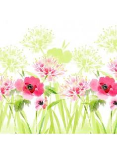 Servilletas de papel decoradas flores de verano 33 x 33 cm