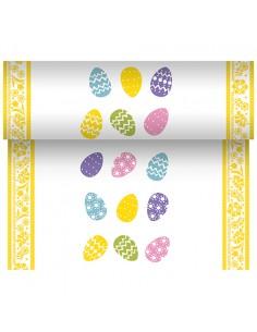 Camino de mesa papel decorado huevos Pascua 24 x 40 cm
