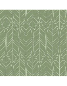 Servilletas de papel decoradas color verde 33 x 33 cm Löv