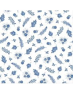 Servilletas de papel decoradas color azul 33 x 33 cm Aurora