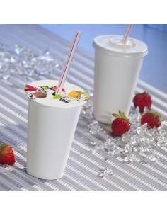 Cubre vasos de cartón decorado frutas con agujero Ø10 cm