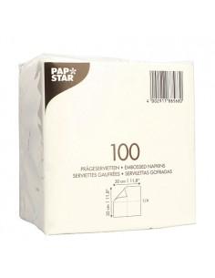 Servilletas de papel económicas color blanco 30 x 30cm