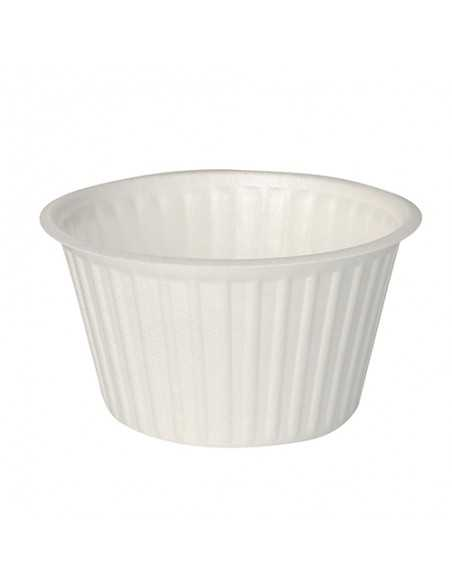 Tarrinas take away redondas color blanco XPS 460 ml