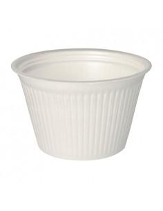 Tarrinas take away redondas color blanco XPS 750 ml