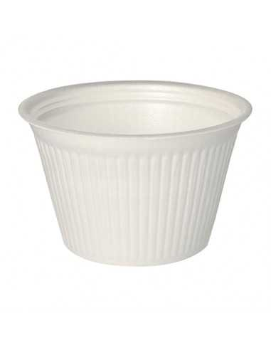 Tarrinas sopa take away redondas económicas color blanco XPS 500ml