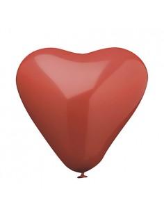 Globos corazón color rojo grande 26 cm