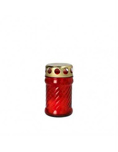 Vela ofrenda religiosa cristal rojo Ø 6,5 x 11,5 cm