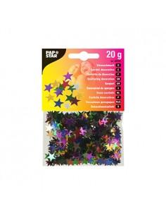 Confeti decorativo estrellas metalizadas Ø 1 cm colores surtidos