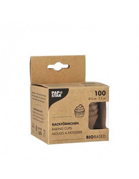 Moldes para hornear magdalenas compostables Ø 5 x 3cm