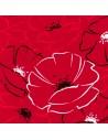 Servilletas de papel decoradas amapolas rojas 40 x 40cm
