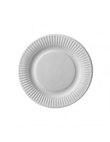 Platos de cartón color blanco para postre Ø 18cm