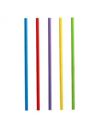 Cañitas de papel colores surtidos para batido Ø 8 x 25 cm
