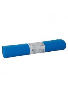 Sacos de basura plástico reciclado color azul 120 litros