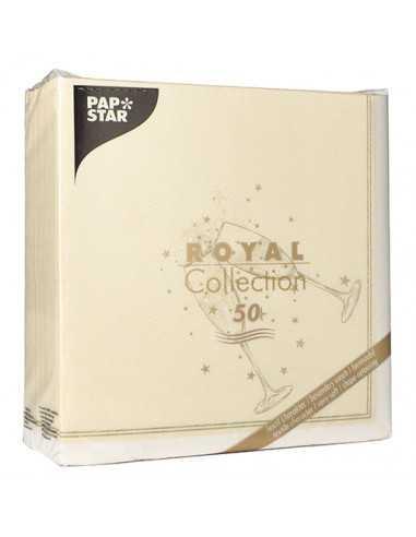 Servilletas papel para celebraciones color oro 40 x 40 cm Festivity Royal Collection