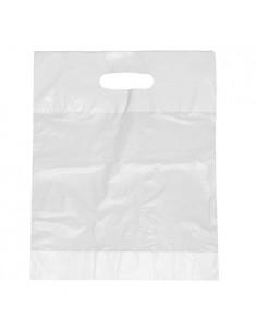Bolsas de plástico reciclado con asa color blanco 50 x 45 x 8 cm