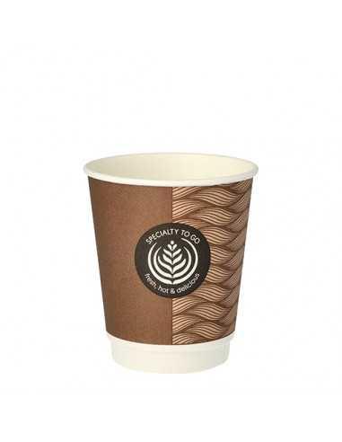 Vasos cartón doble pared cafés para llevar To Go 200ml
