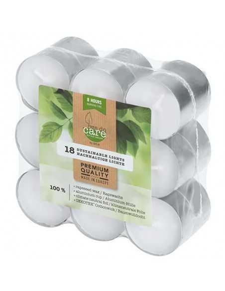 Velas lamparilla ecológicas blancas base aluminio Ø 39 mmx 24 mm