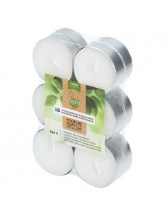 Velas lamparilla maxi ecológicas blancas base aluminio Ø 56 x 24 mm