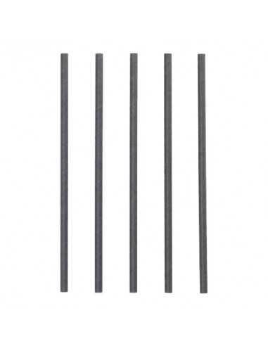 Cañitas de papel negras para batido Pure Ø8 mm x 25cm