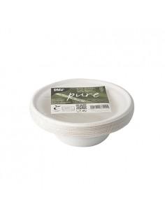 Boles redondos caña azúcar compostables color blanco 380 ml Pure