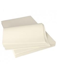 Hojas papel envolver alimentos antigrasa color blanco 37,5 x 25 cm