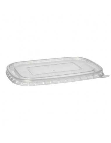 Tapas plástico para envases de cartón take away 17,3 x 12,3 cm