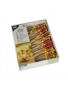 Pallilos brocheta de madera bambú decorados Méjico 12 cm