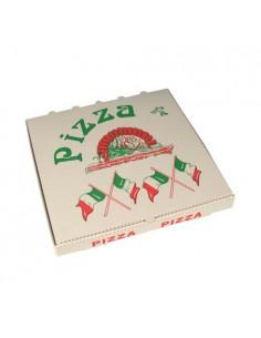 Cajas para pizza cartón impresas bandera italiana 30 x 30 cm