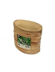 Platos ovalados hoja palma natural Pure 300ml