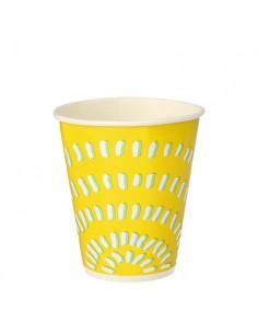 Vasos de cartón bebidas frías To Go color amarillo 300 ml