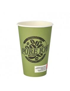 Vasos cartón bebidas calientes 300ml Pure Joy verde