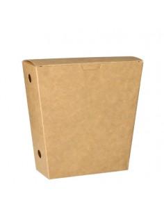 Cajas cartón para patatas fritas con tapa 1200ml Pure