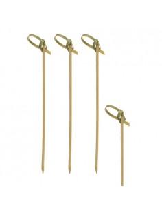 Brochetas de madera bambú decorativas 18cm Knot