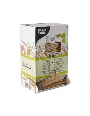 Palillos madera montadientes envueltos 6,5 cm con mentol