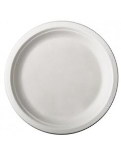 Platos caña azúcar redondos color blanco Ø 26 cm Pure