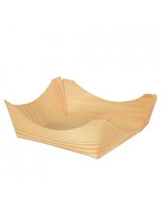 Boles para tapas madera de bambú cuadrados 10 x 10 x 3,5cm
